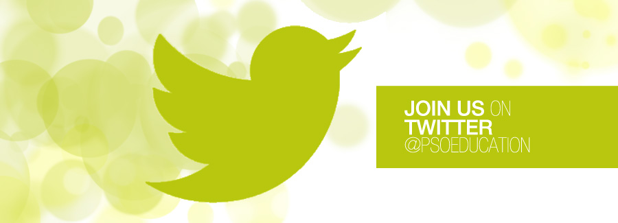 Join us on Twitter @PSOEducation